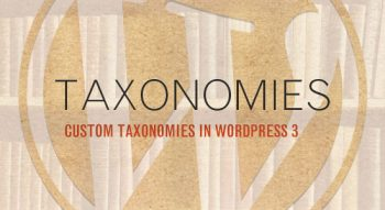 WordPress & Custom Taxonomies